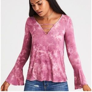 American Eagle💕Soft & Sexy Bell Sleeve Hippie Top